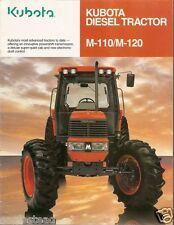 Farm Tractor Brochure - Kubota - M110 M120 - 1998 (F1579)