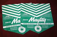 2 Maytag 92 72 31 Wringer Washer Roller Paper Gas Engine Hit Miss Large Antigue