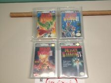 Dragon warriors series (4) Nintendo nes new factory sealed vga graded nos