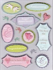 K & Company Grand Adhesions Dimensional Stickers *ANNIVERSARY*Scrapbooking/Cards