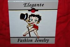 Betty Boop Pin Top Hat Cane Dancing Colored Enamel Free Shipping