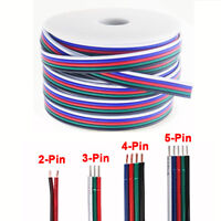 1m-100m 2 3 4 5 Pin RGB RGBW LED Light Strip Extension Wire Cable Connector