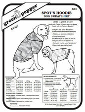 Spot's Hoodie – Dog Sweatshirt Pet Coat #560 Sewing Pattern (Pattern Only) gp560