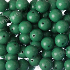 20mm 10pcs Hunter Green Gumball Bead Bubble Gum Chunky Acrylic Round Supply