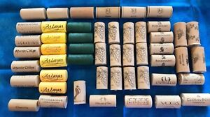 50 wine stoppers (not actual cork), nomacorc, various wineries, used