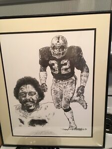 Jack Tatum Raiders and Ohio State lithographs