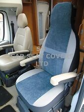 TO FIT A FIAT DUCATO MOTORHOME, SEAT COVERS, 2004, MH-179, BESSIE BLUISH GREY