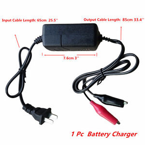 1PC CHARGE&MAINTAIN BATTERY TRICKLE CHARGER AC 100-240V 12V CAR,BIKE,BOAT,JETSKI