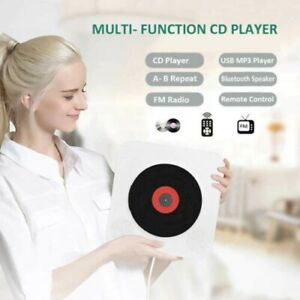 Wall Mounted CD Player  Surround Sound FM Radio Bluetooth USB MP3 Disk Portable