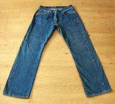 Levis 501 Men's Button Fly Classic Straight Leg Blue Jeans Size W32 L32