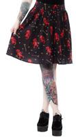Sourpuss Hot Stuff Skirt Rockabilly Gothic Pin Up Retro Roller Derby Tattoo