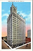 1940's Postcard Kirby Building Main and Akard Streets Dallas Texas VINTAGE