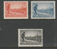 """1934 VICTORIA CENTENARY COMPLETE SET OF """"3"""" MINT UNHINGED 11.5 PERF FRESH/SCARCE"""