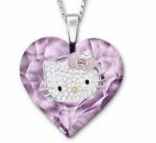 Swarovski Pink Crysta Hello Kitty Valentines Necklace Limited Edition
