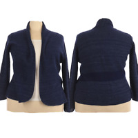 CJ Banks Womens Cardigan Sweater Plus Size 2X Long Sleeve Open Front Blue Casual