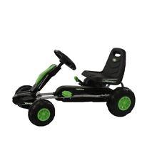 Green Pedal Go Kart Children's Kids Hard Wheels Responsive Hand Brake Wired boys