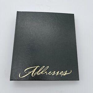 HALLMARK Vintage Green Leather Address Book
