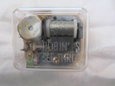 "Robin Music Box Wind Up Mechanism Plays ""Dallas"" Nos"