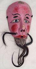 Vintage Christian Wood Mask - Moor & Christian Dance - Mexican Folk Art