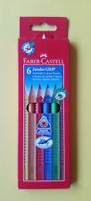 Faber Castell Jumbo Grip 6er Set Farbstifte 6 Stück wasservermalbar 110906 NEU!