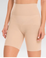 *ASSETS by SPANX WOMEN'S MID-THIGH SHAPER SHORTS NAKED SIZE S COMFORT TONE TUMMY