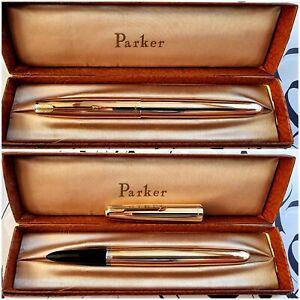 Rare Vintage Parker 51 Signet USA-Made GF Fountain Pen 14K EF Nib Near Mint