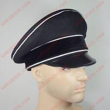 WW2 German M32 Allgemeine Elite Black Wool Peak Cap 60