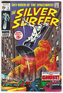 Silver Surfer #8 Fine 6.0 Mephisto The Ghost John Buscema Art 1969