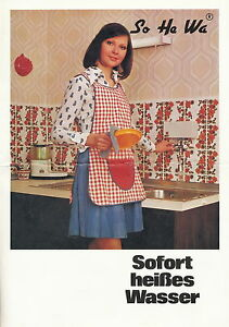 Bedienungsanleitung 1960er Jahre SoHeWa Heißwasserautomat Boiler manual
