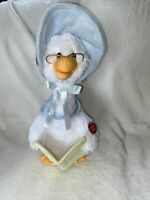 "Mother Goose Story Time Plush 14"" Talking Nursery Rhymes Cuddle Barn Reads"