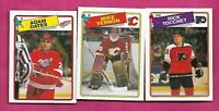 1988-89 OPC TOCCHET + OATES  + VERNON   2ND YEAR NRMT-MT (INV# C2051)