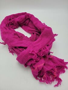 """$99  Echo 100% cashmere Pink  Women's scarf 68 by 16"""" P56 A2"""