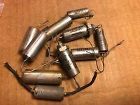 10 Vintage .1 uf 200v 100v Vitamin Q Style Capacitors West-Cap Sprague WE NOS