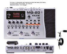 Nux Mg20 Pedale Multi effetto Pedaliera USB SD per Chitarra Looper Drum Machine