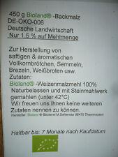 Brötchenbackmittel  Bioland  Backmalz  Enzym aktiv + Rezept  450g