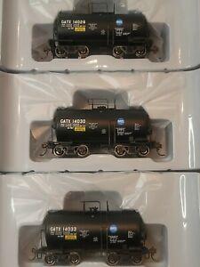 Athearn HO GATX Serice Driven NACC 8K Beer Can Tank Black Pack 3