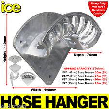 Heavy Duty Aluminium Wall Mounted Garden Hose Pipe Hanger Storage Bracket Tidy