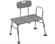 Bath Bench Or Shower Chair Handicap Stool With Back And Arm Seat Adult Elderly
