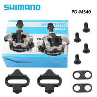 PD-M540 SPD MTB Mountain Bike pedal Clipless Cycling Pedals + Cleats ha
