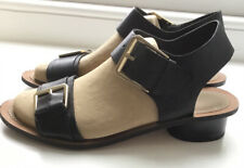 Clarks Black Leather Sandals, Size 8D