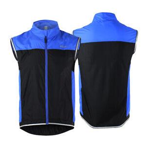 Men Cycling Sleeveless Vest Windproof MTB Bike Running Racing Jersey Shirts Coat