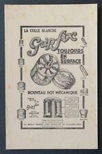 Buvard COLLE BLANCHE GRIP-FIX nouveau pot mécanique blotter 2