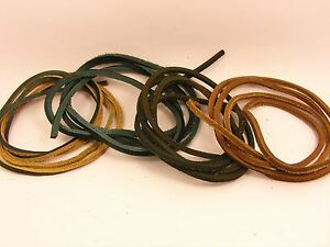 Top Quality Soft GENUINE 3x3MM Flat LEATHER String CORD for Necklace or Shoelace