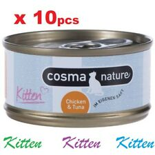 x10 Cosma Nature Kitten Babycat  Food Chicken & Tuna (70g) natural ingredients