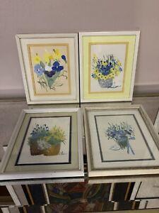 Eda Varricchio LISTED ARTIST Original Gouache Paintings Signed 2 Original Works