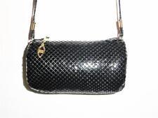Vintage *PACIFIC EXPRESS* Cylinder Roll BLACK Metal Mesh SHOULDER BAG Purse