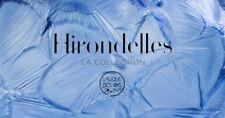 Cristallo Hirondelles by Lalique: Cristallo LALIQUE Le Rondini. Altezza cm.22