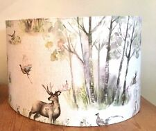 40cm Lampshade Voyage Enchanted Forest Fabric Stag Deer Floor / Table Lampshade