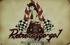 Retro-A-go-go Pin-Up  Metal Sign