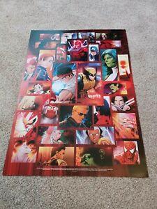 Genuine ORIGINAL 2011 Marvel vs Capcom 3 Fate of Two Worlds Poster FREE POSTAGE